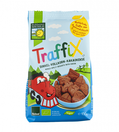 Bio Biscuiti Traffix din Spelta si Cacao Bohlsener Muhle 150 g