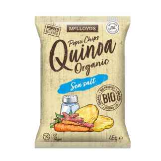 Bio Chips cu Quinoa cu Sare de Mare Fara Gluten Vegan McLLOYD'S 45 g