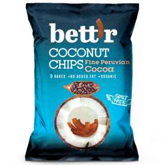 Chips de Cocos cu Cacao Bio Fine Peruvian Cocoa Bettr 40 g