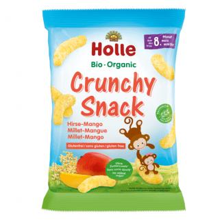 Bio Crunchy Snacks cu Mei si Mango Fara Gluten Holle 25 g
