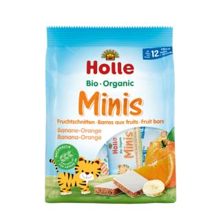 Bio Mini Batoane cu Banane si Portocale 12 luni+ Holle 8 x 12,5 g