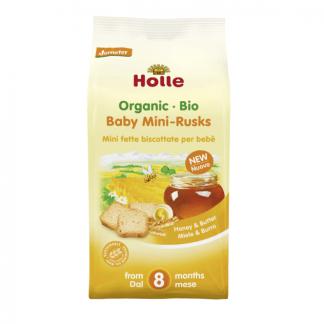 Bio Mini Paine Uscata cu Unt si Miere Holle 100 g