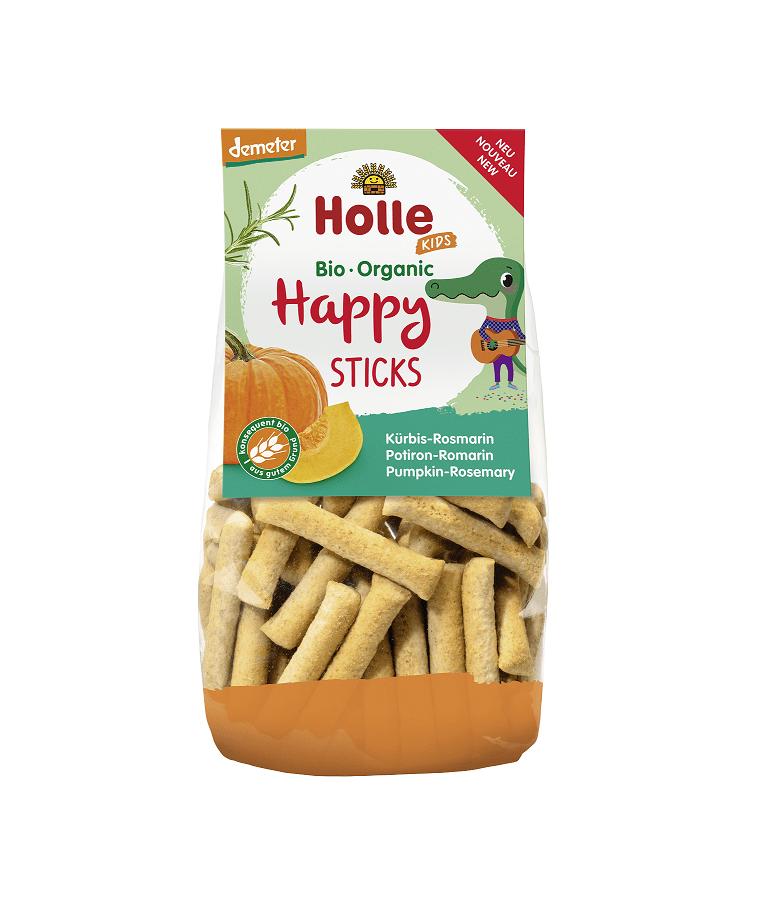 Bio Sticksuri cu Dovleac si Rozmarin Happy Sticks Holle 100 g