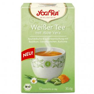 Bio Ceai Ayurvedic Alb cu Aloe Vera Yogi Tea 30,6 g