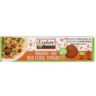 Bio Spaghete din Linte Rosie Fara Gluten Vegan Explore Cuisine 250 g