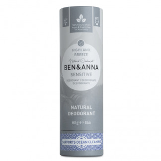 Deodorant Natural Stick Tub Carton Ben & Anna Sensitive Highland Breeze