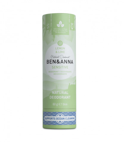 Deodorant Natural Stick Sensitive Lemon & Lime Ben & Anna