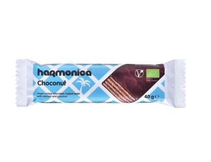 Bio Napolitana Vegana cu Cocos si Ciocolata Choconut Harmonica 40 g