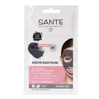 Masca de Fata Black Peeling cu Ulei de Argan si Siliciu Vegan Sante 2 x 4 ml