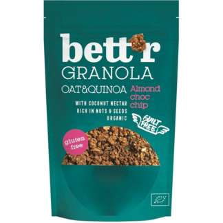 Bio Granola Migdale si Choc Chip Vegan Fara Gluten Bettr 300 g