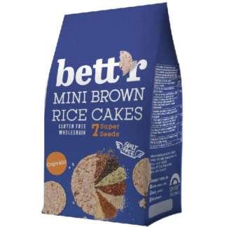 Bio Mini Rondele din Orez Brun Integral cu 7 Super Seminte Vegan Fara Gluten Bettr 50 g
