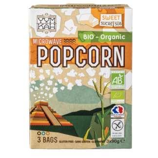 Bio Pop Corn Dulce Pentru Microunde Fara Gluten YumKah 3 x 90 g