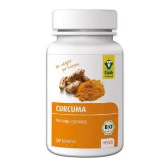 Bio Tablete de Turmeric (Curcuma) Vegan Raab Vitalfood