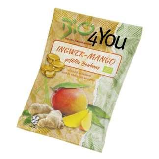 Bio Bomboane cu Ghimbir si Mango Vegan Bio4You 75 g