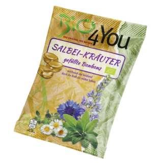 Bio Bomboane cu Ierburi si Salvia Vegan Bio4You 75 g