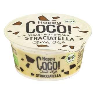 Bio Iaurt Natural de Cocos Stracciatella Vegan Happy Coco 125 g