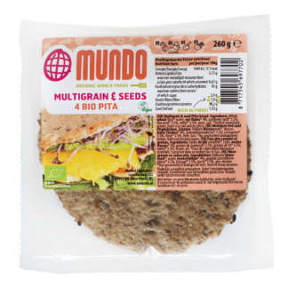 Bio Pita Multicereale si Seminte Vegan O Mundo 5 buc 280 g