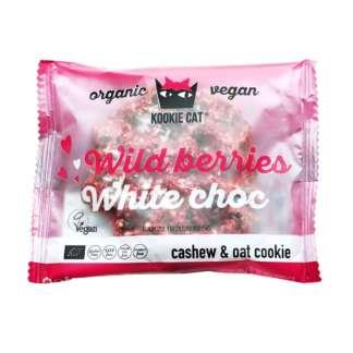 Bio Cookie cu Ciocolata Alba si Fructe de Padure Wild Berries Kookie Cat 50 g