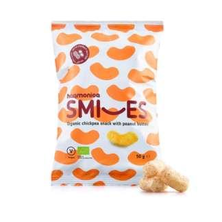 Bio Pufuleti Smiles cu Unt de Arahide Vegan Harmonica 50 g