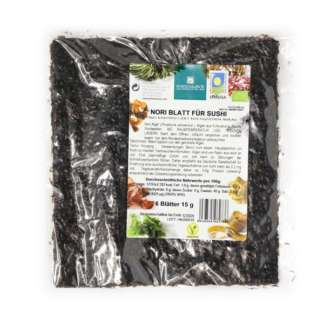 Bio Alge Marine Sushi Nori Vegan Porto Muinos 15 g