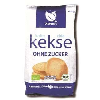 Bio Biscuiti din Ovaz si Chia Fara Zahar Xweet 125 g