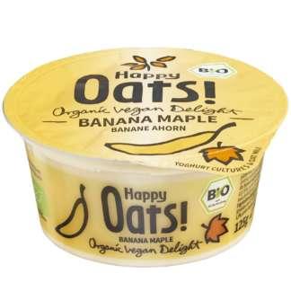 Bio Iaurt Vegetal din Ovaz Banana Maple Happy Oat 125 g