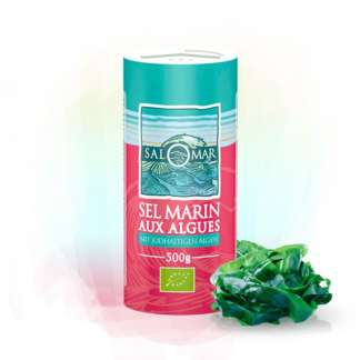 Sare Marina cu Alge Bio Salomar 500 g
