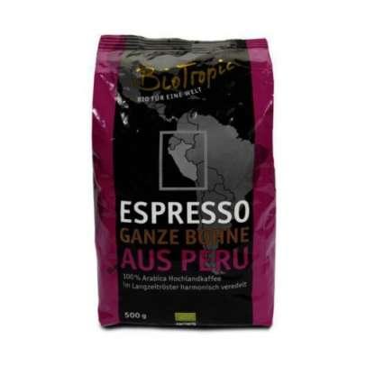 Bio Cafea Espresso Boabe Peru Naturland Biotropic 500 g