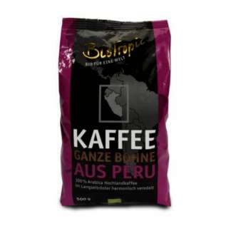 Bio Cafea Prajita Boabe Peru Naturland Biotropic 500 g