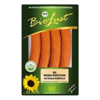 Bio Carnaciori Vienezi cu Carne de Vita Biolust 200 g