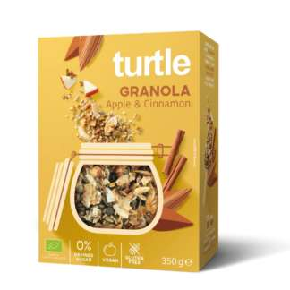 Bio Cereale Granola cu Mar si Scortisoara Fara Gluten Turtle 350 g