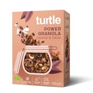 Bio Cereale Power Granola cu Nuca de Cocos si Cacao Fara Gluten Turtle 350 g
