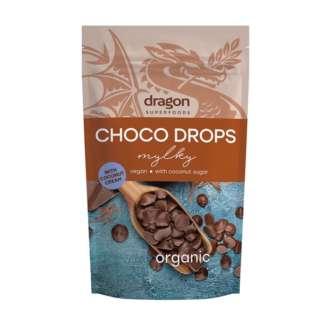 Bio Choco Drops Ciocolata cu Smantana de Cocos Vegan Dragon Superfoods 250 g