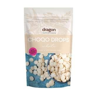 Bio Choco Drops cu Ciocolata Alba Vegan Dragon Superfoods 250 g