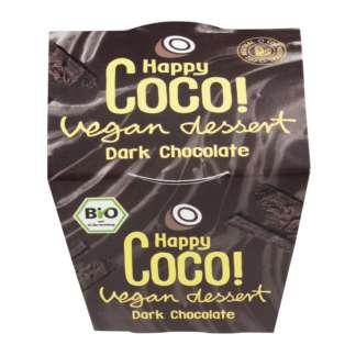 Bio Desert cu Ciocolata Neagra Vegan Happy Coco 110 g