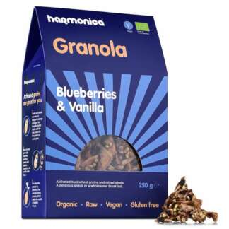 Bio Granola cu Afine si Vanilie Fara Gluten Vegan Harmonica 250 g