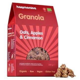 Bio Granola cu Ovaz, Mere si Scortisoara Fara Gluten Vegan Harmonica 250 g