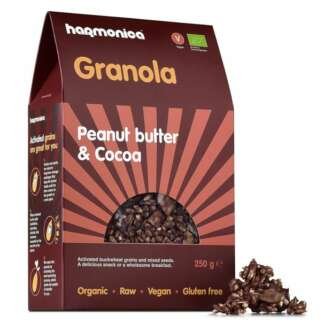 Bio Granola cu Unt de Arahide si Cacao Fara Gluten Vegan Harmonica 250 g