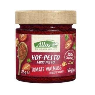 Bio Pesto Rosso cu Rosii Uscate si Nuci Vegan Allos 125 g