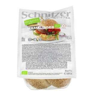 Bio Chifle pentru Hamburger Fara Gluten Schnitzer 4 buc 250 g