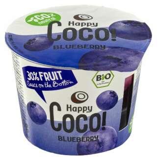 Bio Desert Vegan cu Afine 30% Fructe Happy Coco 250 g
