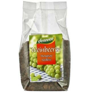 Bio Stafide din Struguri Thompson Fara Seminte Dennree 500 g