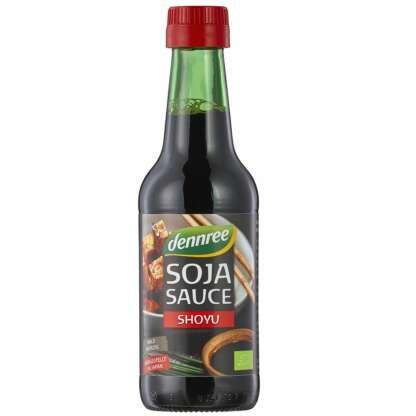 Bio Sos de Soia Shoyu Mediu Condimentat Dennree 250 ml