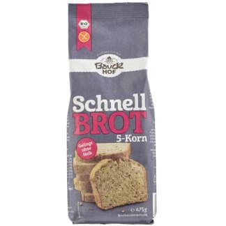 Bio Mix din 5 Cereale pentru Paine Fara Gluten Bauck Hof 475 g